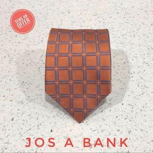 Jos A Bank Executive Geometric Print Silk Tie EUC